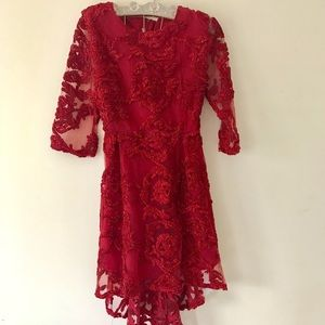 Stylewe High-Low Red Lace Dress NEW Size 8